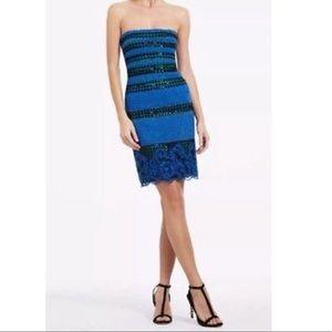 BCBG MaxAzria Strapless Lace Dress